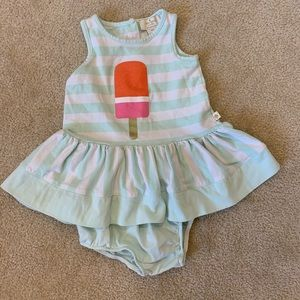 Kate Spade stripped baby dress w/ ice cream print